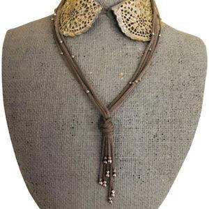 Jewelry - 14KT Italian White Gold Multi Strand Necklace NEW
